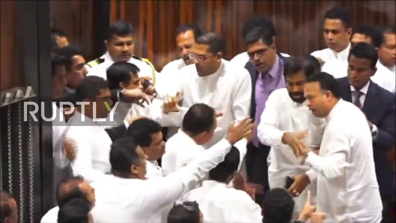 Sri Lanka: Brawl erupts in Sri Lankan parliament over PM dispute