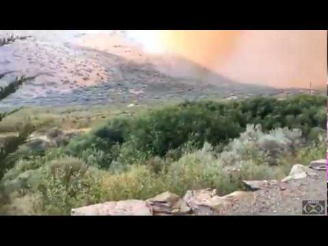 "Cold Springs Fire 7 14 17   ""1500 Acres Burned"""