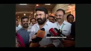Mohanlal react with a news channel