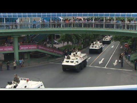 Show of force in China's Urumqi in wake of deadly attack