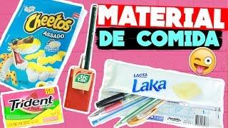 FAÇA MATERIAL ESCOLAR QUE PARECE COMIDA! Caderno, estojo, caneta, apontador e borracha :p