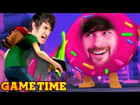 MURDERING DONUTS IN FOOD BATTLE: THE GAME (Gametime w/ Smosh Games)