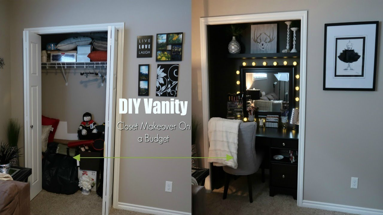 Superb DIY Vanity | Closet Makeover