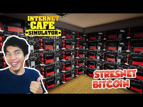 RUANG MINING BITCOIN RAHASIA DI STRESNET - INTERNET CAFE SIMULATOR #4