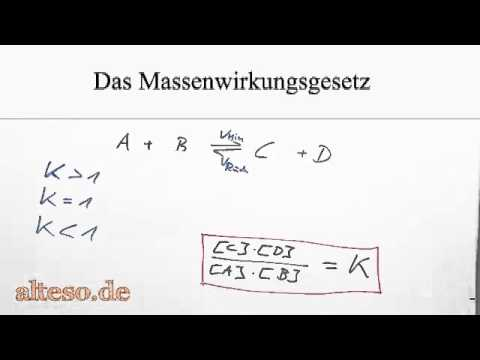 das massenwirkungsgesetz youtube - Massenwirkungsgesetz Beispiel