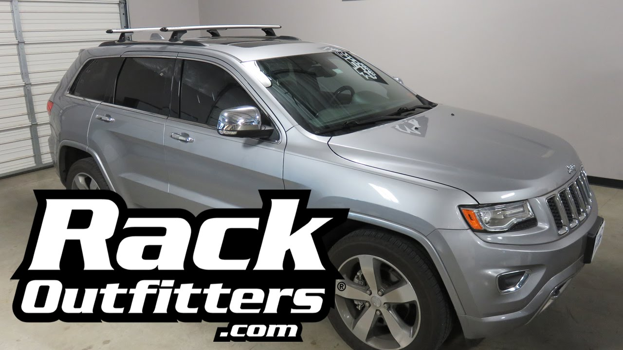 Elegant Jeep Grand Cherokee With Rhino Rack RLCP27 Vortex Roof Rack