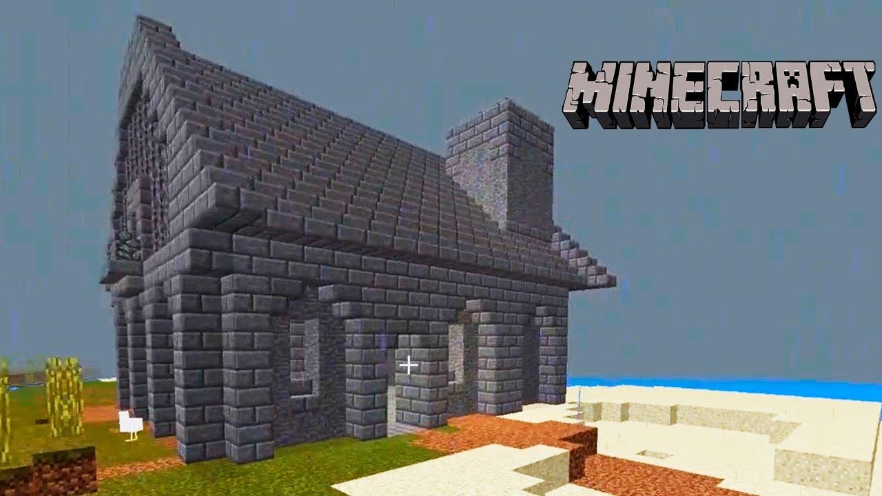 Minecraft - Simple Stonebrick House (12x Speed)