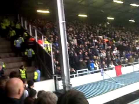 Chelsea Aggro at QPR with a bouncy -Chelsea fan kicked out