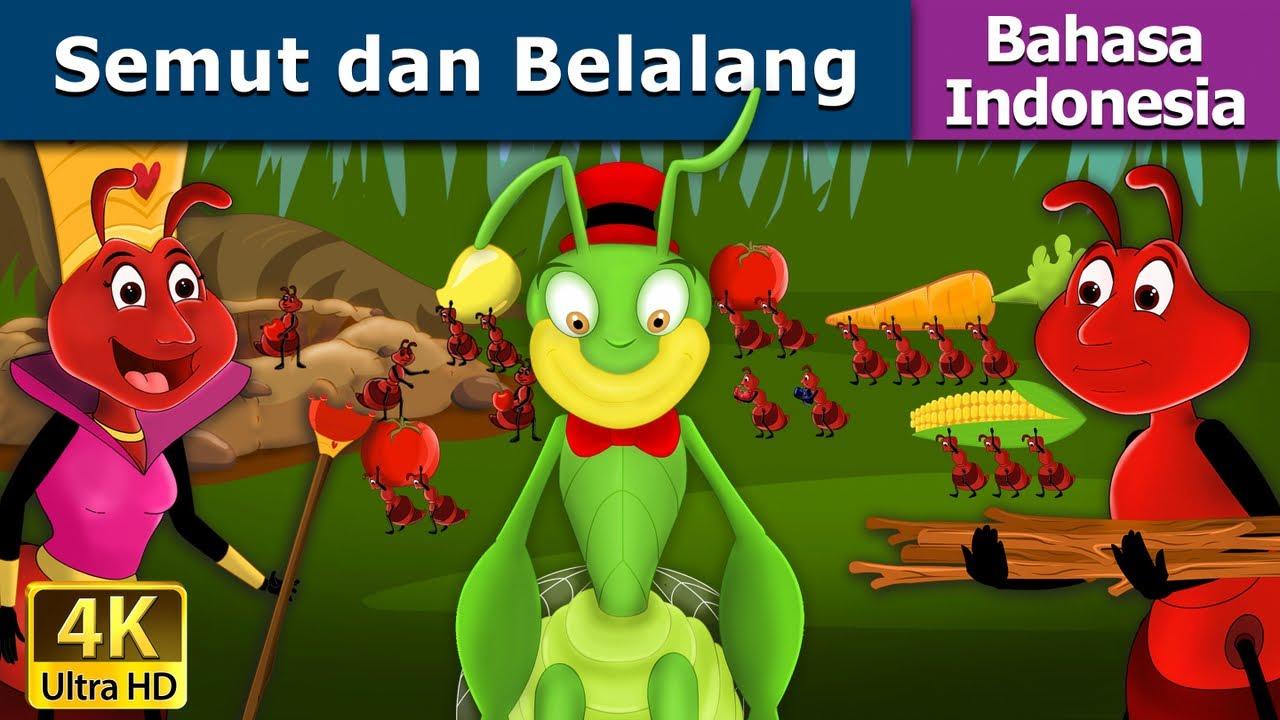 Semut Dan Belalang Dongeng Anak Kartun Anak Dongeng Bahasa