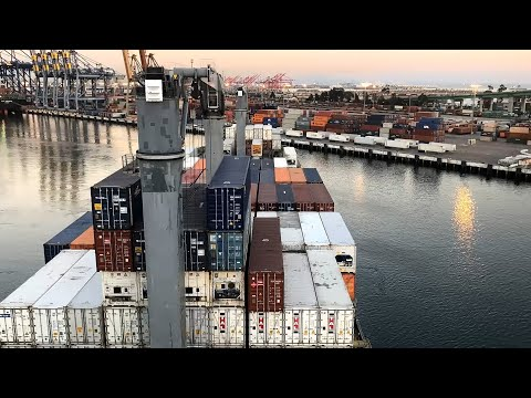 Timelapse of Container Ship arriving Port   Merchant Navy   Life @ Sea