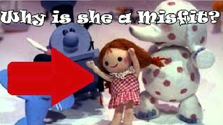 """Why is """"Dolly"""" on the Island of Misfit toy? (Rudolph the Red-Nosed Reindeer)"""