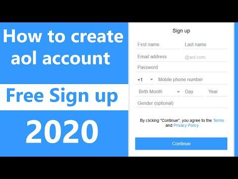 Create Free AOL Account | Aol.com Sign Up 2020 | AOL Mail Login