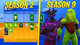 Evolution Of Fortnite Battle Pass Items From Season 2 - Season 9..!