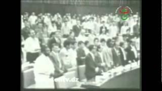 مفدي زكريا ينشد نشيد حزب الشعب ALGERIE