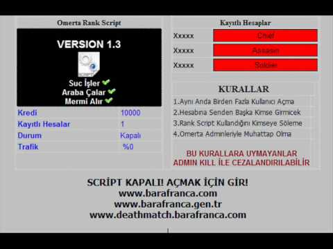 Barafranca gambling script non-deposit