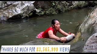 Survival skills: Catch big fish 5 Kg by hand in waterfall - Cooking big fish eating delicious #20 thumbnail
