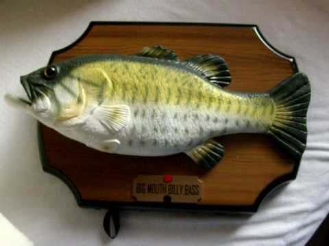Big mouth billy bass youtube for Talking fish toy