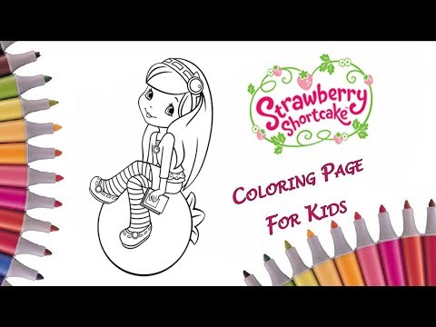 blueberry muffin coloring page strawberry shortcake coloring book video for girl art colors for kids