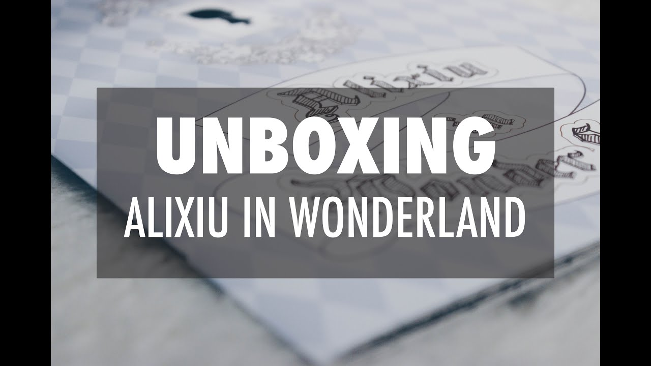 Unboxing Alixiu In Wonderland By Exo Gallo EXO Xiumin Coloring Book