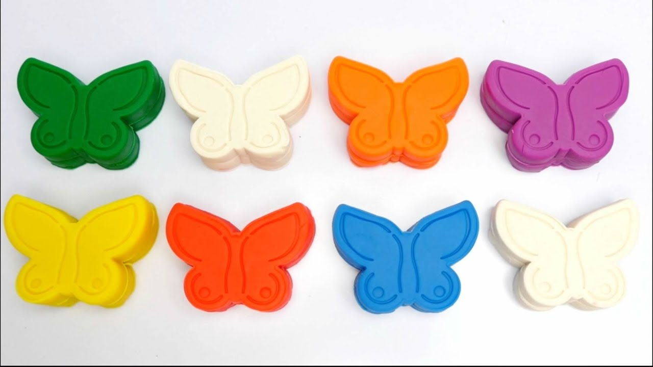 play doh butterfly rainbow colors youtube