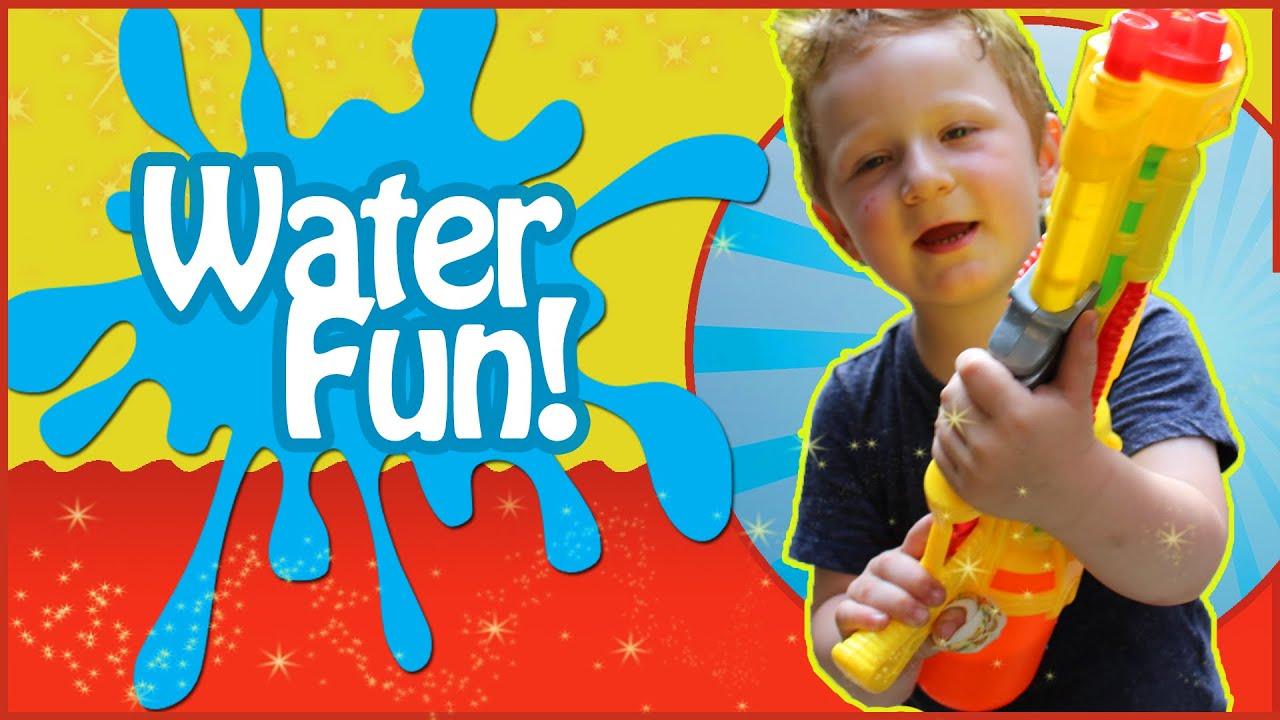 Water Fun! - New Water Gun -  Kids Video - New Kids TV