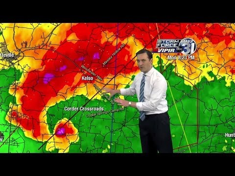WAAY-TV Lincoln County Tennessee EF3 Tornado Coverage 4/28/14 8-9pm