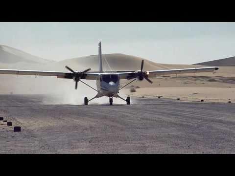 DHC6 Vortex Landing in Sahara. TZ7 November 2010.