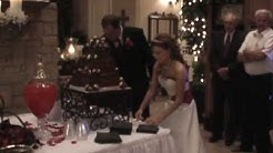 Shelly & Jordan Stone Cutting the Wedding Cake