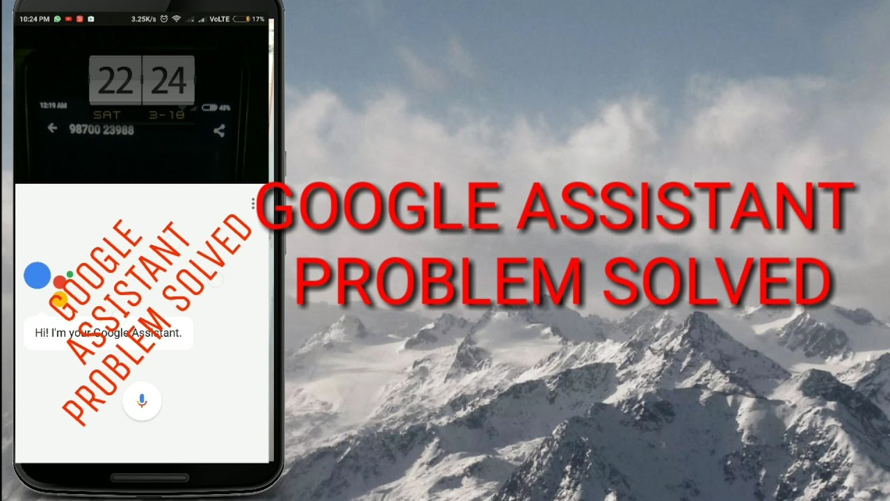 how to get google assistant if not working