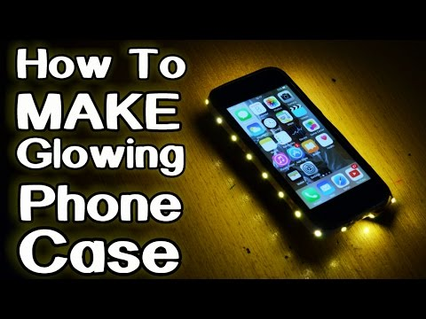 How to make glowing phone case youtube for How to make phone cases at home