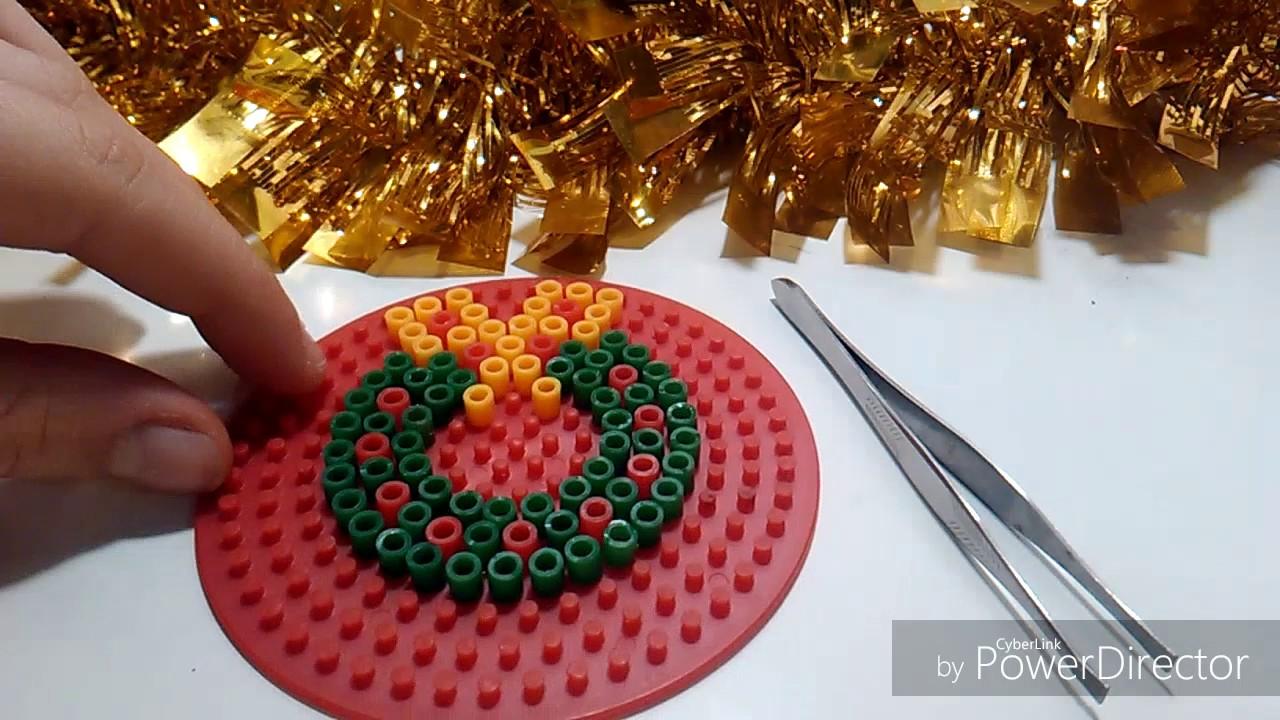 Pyssla Natale.Diy Tutorial 4 Addobbi Natalizi In Pyssla Hama Beands Merry Christmas