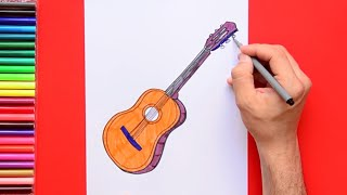 How to draw and color a Ukulele