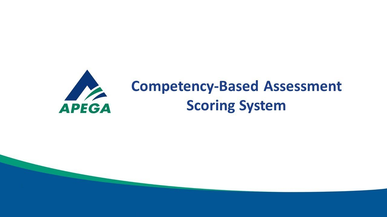 Competency-Based Assessment (CBA) Scoring | APEGA