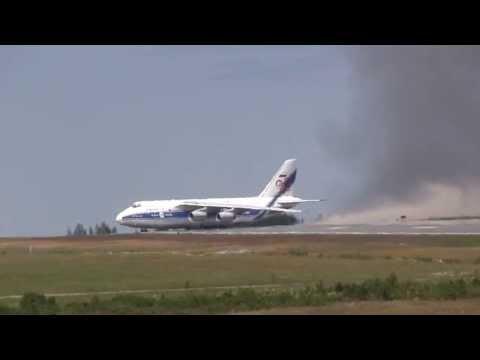 Antonov An-124 Spectacular Takeoff !!!
