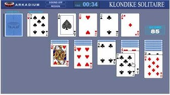 Solitaire Klondike kostenlos spielen online