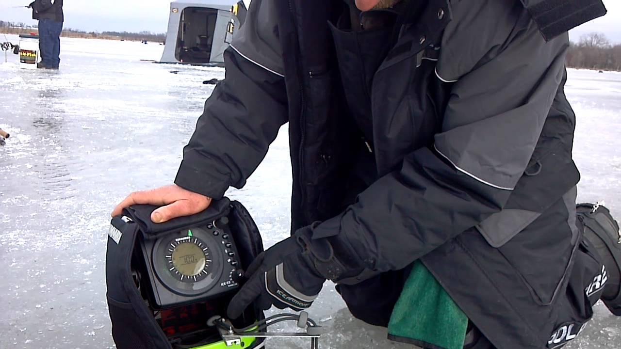 Humminbird ice 55 modified youtube for Humminbird ice fishing