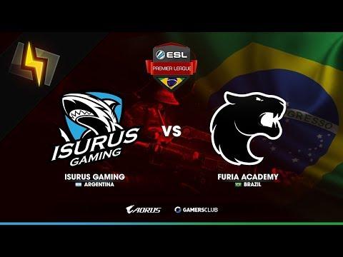 [ES] Isurus Gaming vs FURIA Academy | ESL Brazil Premier League | Qualifier #2 | BO1 | Inferno