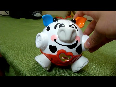 Review of Fisher Price Bounce and Giggle Cow Bumble Toy