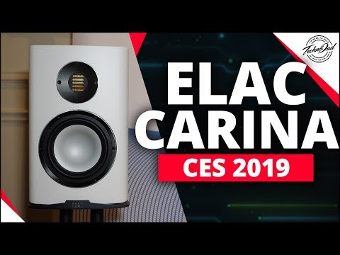 CES 2019 | New ELAC Carina and Vela Speakers with Andrew Jones!!