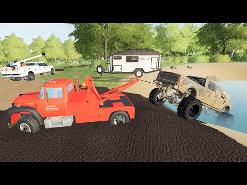 We rescue a broken truck from the mud | Farming Simulator 19 |