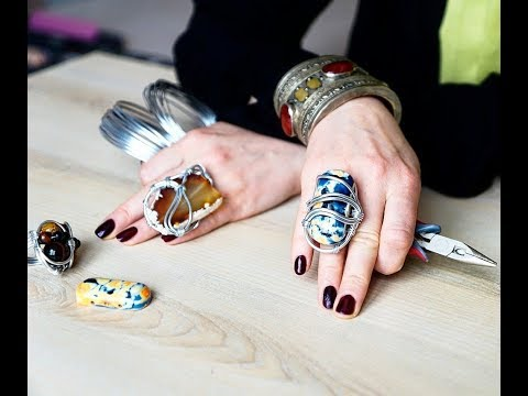 Как плести кольцо из проволоки . how to make a ring with your own hands