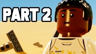 LEGO Star Wars The Force Awakens Gameplay Walkthrough Part 2 - FINN 4 THE WIN!!