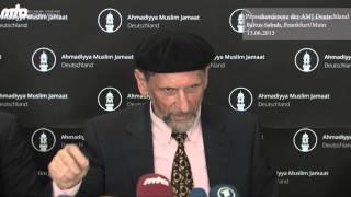 Pressekonferenz Ahmadiyya Muslim Jamaat Deutschland - Körperschaft des öffentlichen Rechts