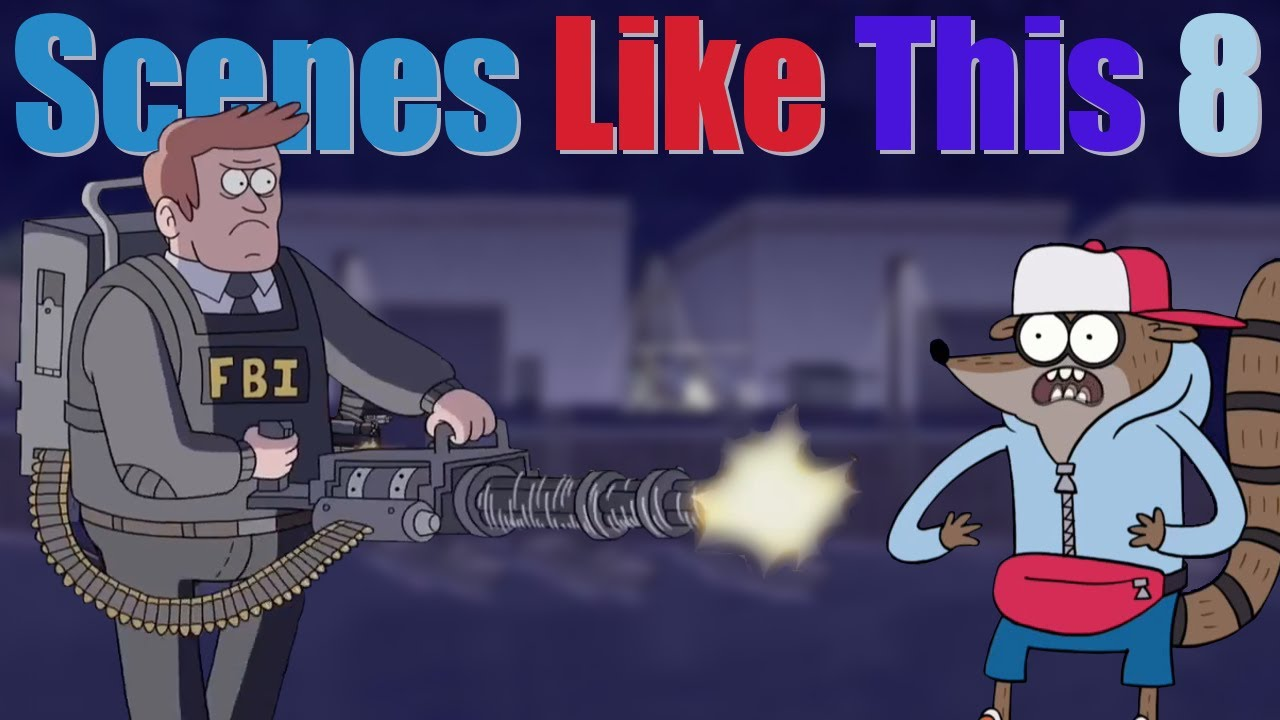 how to have guns in cartoons the right way regular show scenes