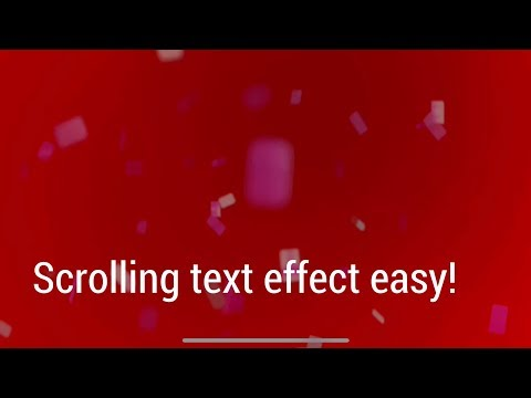 Scrolling text effect app for IOS / iPhone and iPad - Video Text! Ticker text!