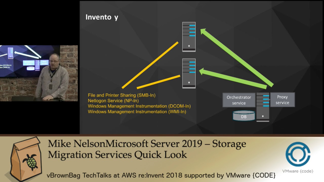 2018 AWS reInvent Mike Nelson – Microsoft Server 2019 – Storage Migration  Services Quick Look
