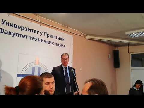 Predsednik Vučić pred građanima u K. Mitrovici