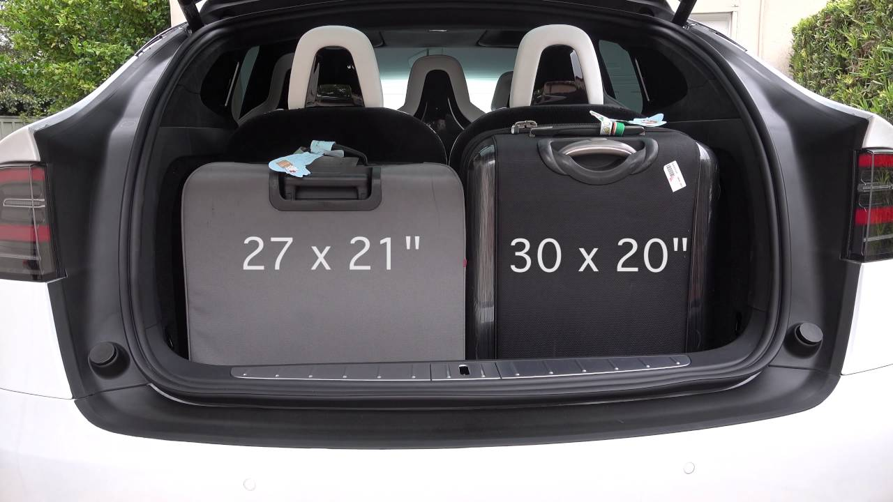 Tesla model x trunk dimensions