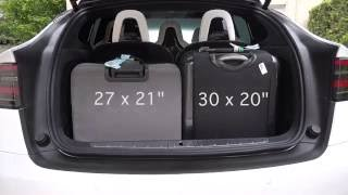 Tesla Model X Rear Cargo / Trunk Space - How many suitcases? (4K)