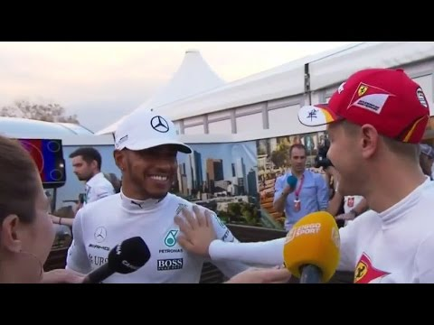 F1 2017 | Australian GP - Lewis Hamilton confronts Sebastian Vettel over touching his car